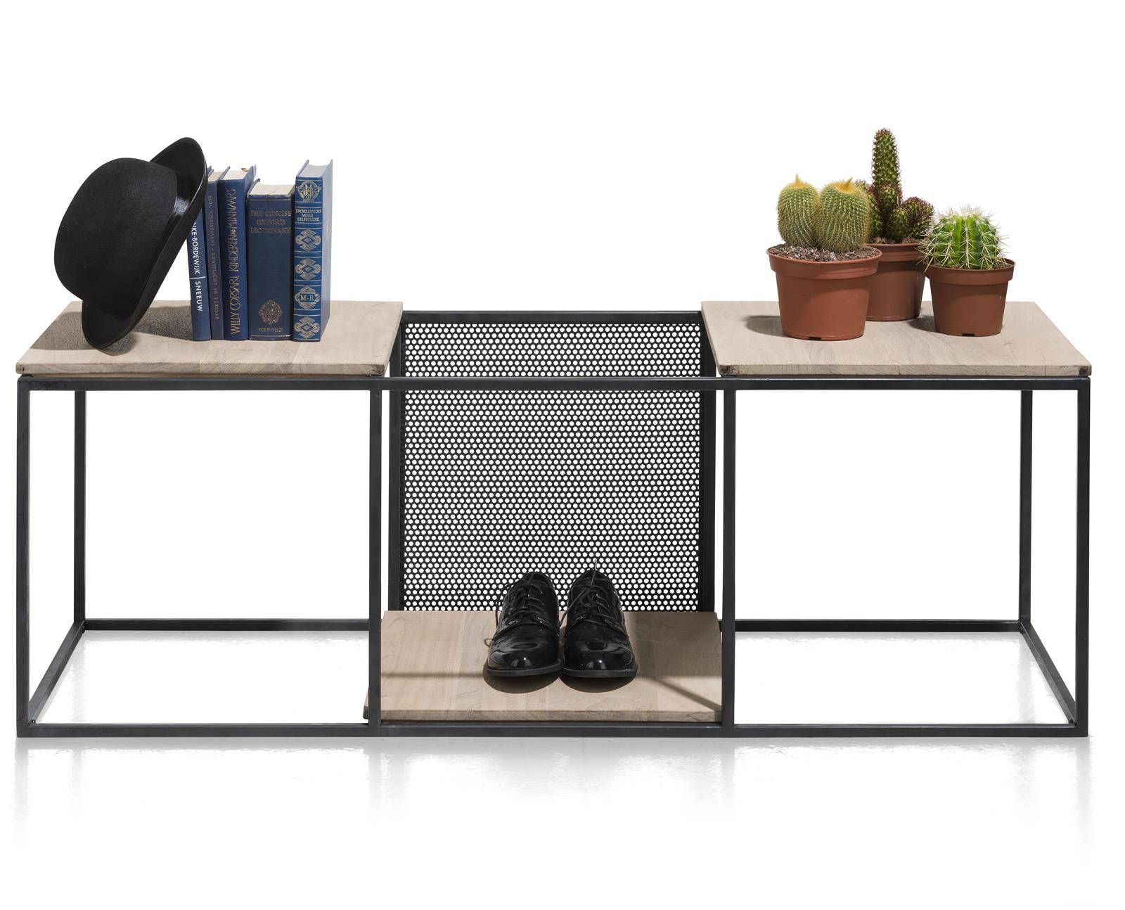 Henders & Hazel Vincent Regal 3-Nischen + 3-Einlegeboden + 1 versetzbar Metall Paneel