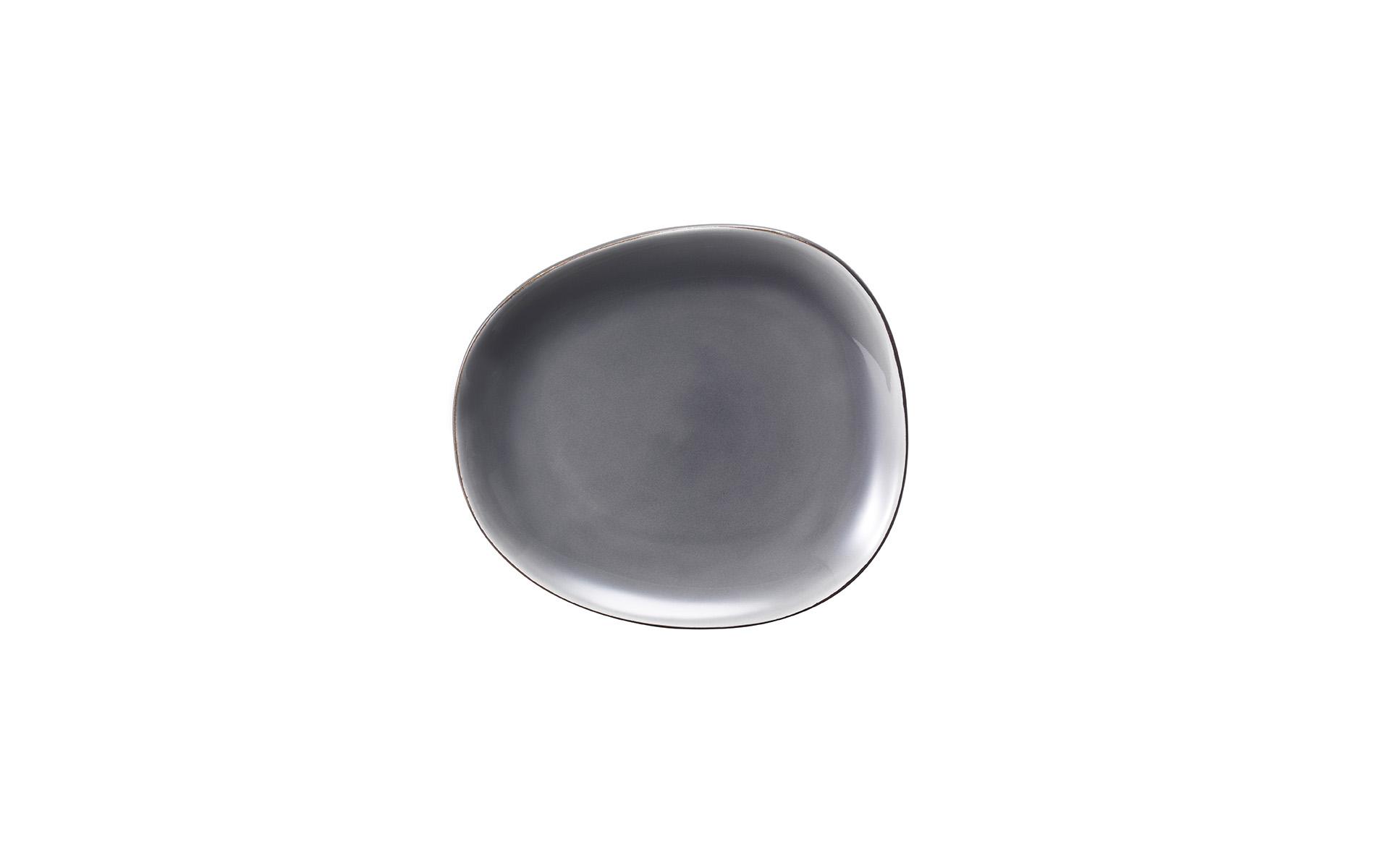 Elements by van Well / Desserteller schwarz-grau