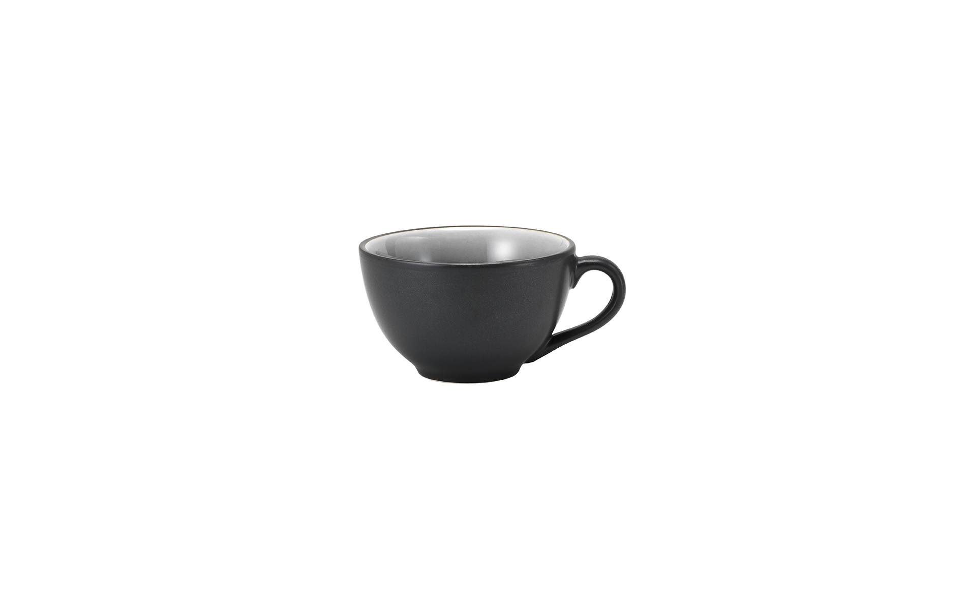 Elements by van Well / Kaffeetasse schwarz-grau