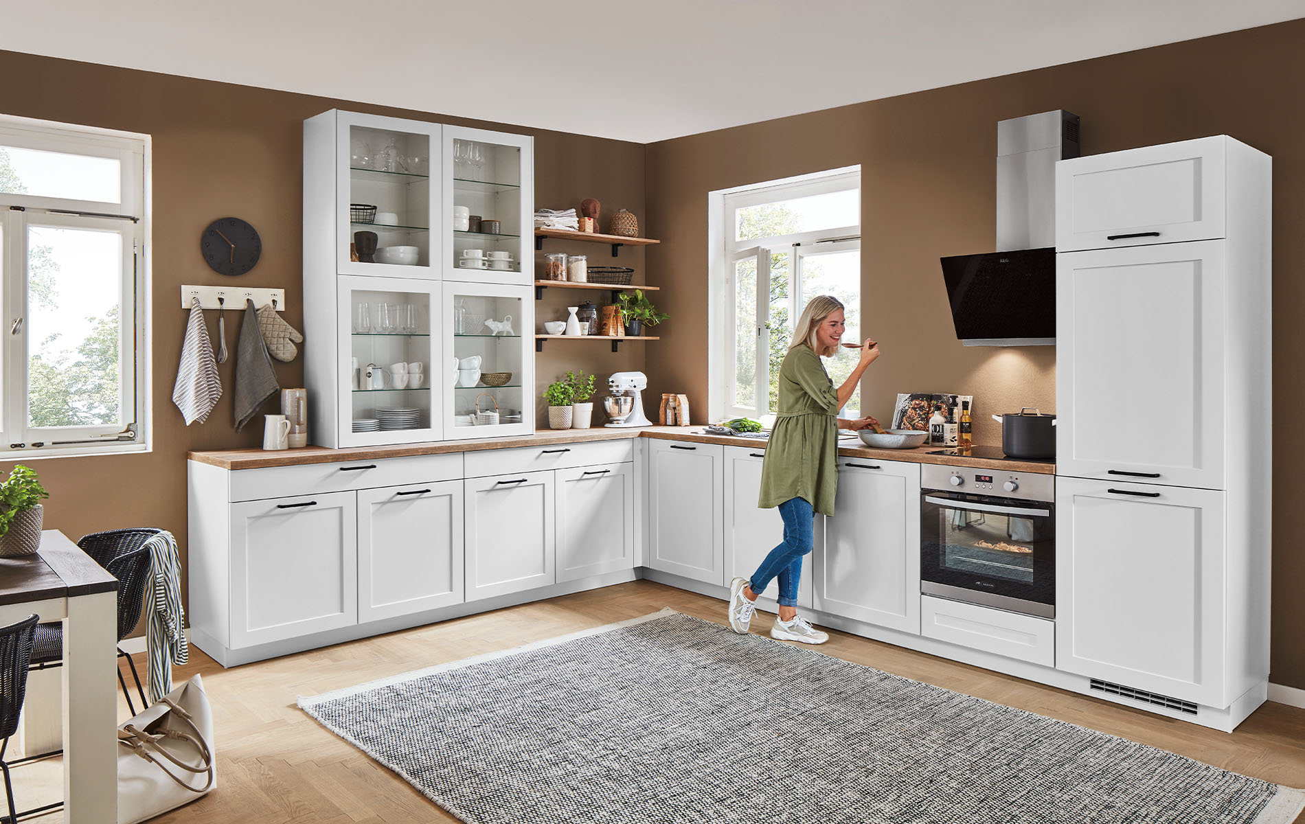 Nobilia-Einbauküche aus dem Programm Nordic